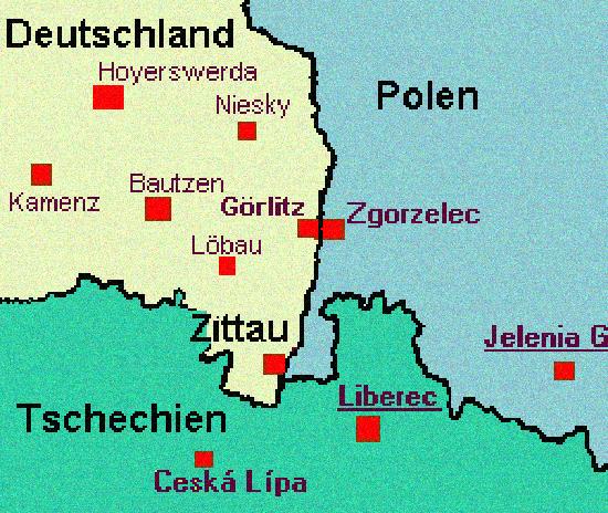 karte dreiländereck deutschland polen tschechien Bönnen & Endres